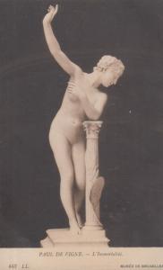 Paul De Vigne L'Immortalite Belgium Sculptor Statue Antique Postcard