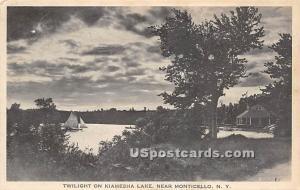 Twilight on Kiamesha Lake Kiamesha Lake NY Unused