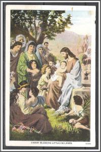 United States - Christ Blessing Little Children