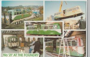 Essex; Southend On Sea Pier Train No 21 At The Foundry PPC, Unused, Lynn Tait
