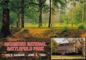 Cold Harbor Confederate Position Richmond National Battlefield Park Richmond ...
