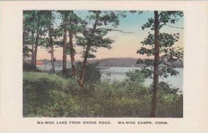 Connecticut Wa-Wog Camps The Wa-Wog Lake From Shore Road Albertype