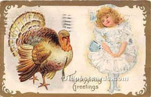 Thanksgiving Greetings 1909 light postal marking on front