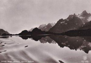 Gjennem Raftsund Norway Vintage Real Photo Postcard