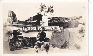 RP; 4-Views, Hibiscus, Greetings from CRAWFORD, Nebraska, 1910s
