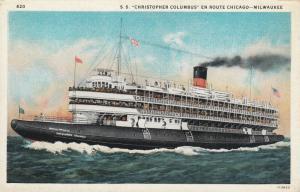 S.S. Christopher Columbus En Route CHICAGO - MILWAUKEE, 1910-20s
