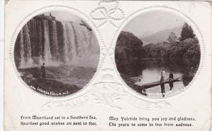 RP; WAIRUA FALLS & WAIKATO RIVER, Auld Lang Syne, New Zealand, 00-10s