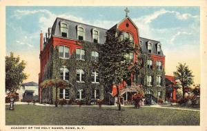 Rome New York Academy Of Holy Names Street View Antique Postcard K95376