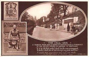 The Call 1914 Edinburgh Scotland, UK Unused