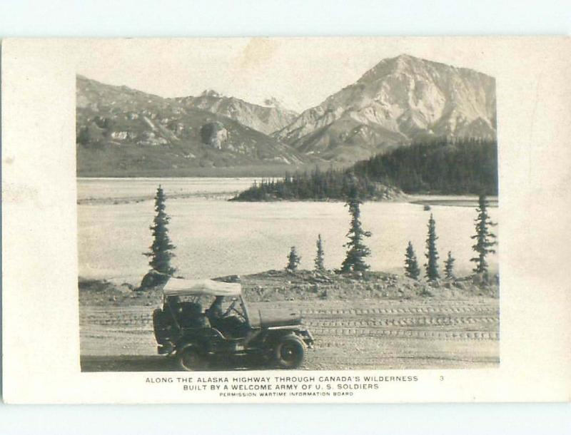 Pre-1949 rppc SCENERY ALONG ALASKA HIGHWAY Province Of British Columbia BC W1055