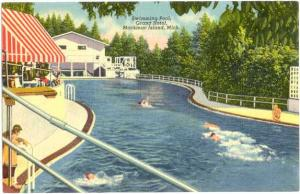 Linen Pool at Grand Hotel Mackinac Island Michigan MI 1950