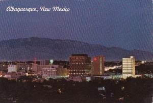 New Mexico Albuquerque Albuquerque Skyline At Night