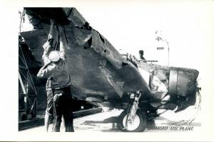 HI - Pearl Harbor. December 7, 1941. Damaged US Plane   *RPPC  (Photo, not a ...