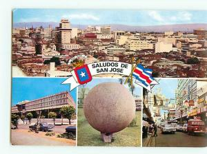Vintage Postcard Welcome to San Jose Stone Sphere City  # 2729