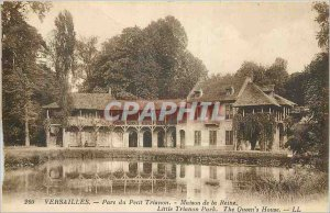 Postcard Old Versailles Petit Trianon Park House Queen