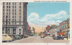 Kentucky Ashland Winchester Avenue Looking West 1947