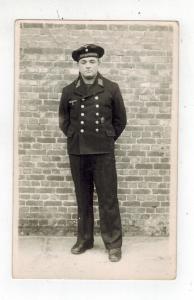 Mint RPPC Germany Kriegsmarine RPPC Postcard Sailor Against Brick Wall