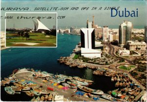 PC CPA U.A.E. , DUBAI, VIEW OF DUBAI CREEK, REAL PHOTO POSTCARD (b16409)