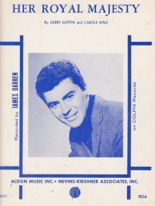 Her Royal Majesty James Darren 1960s Sheet Music