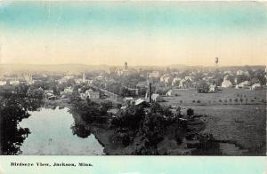 D72/ Jackson Minnesota Mn Postcard 1915 Birdseye View Court House Homes