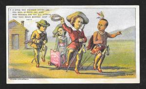 VICTORIAN TRADE CARD Bell's Soap Cowboys & Indians
