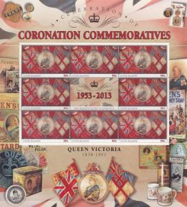 Queen Victoria Cook Islands Royal Coronation Rare Mint Stamp Block Sheet