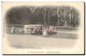 Old Postcard Forest of Fontainebleau table of the Grand Master