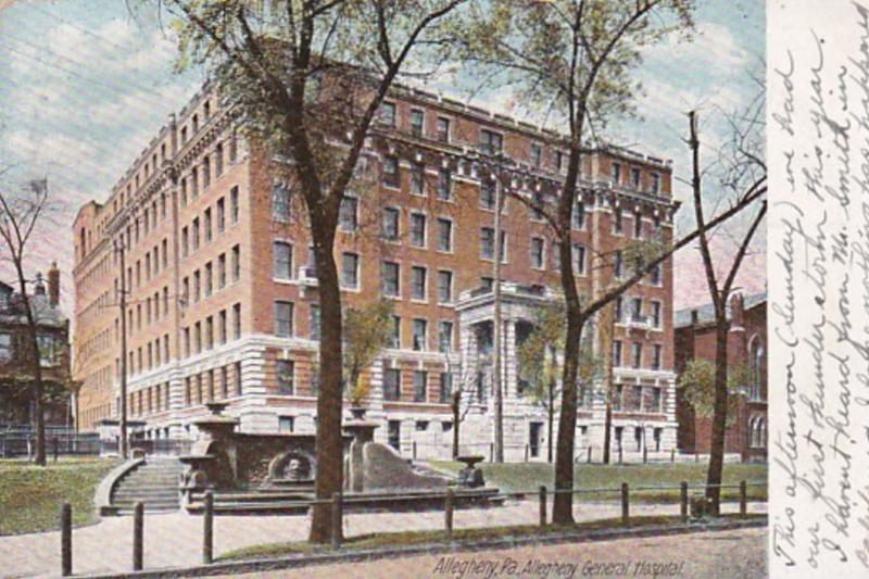Pennsylvania Allegheny General Hospital 1906