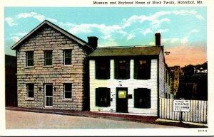 Missouri Hannibal Mark Twain Museum and Boyhood Home 1957 Curteich