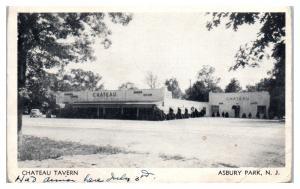 1939 Chateau Tavern, Asbury, NJ Postcard