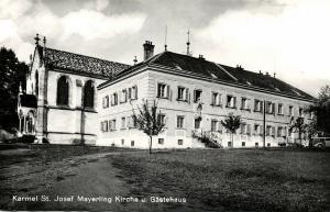 austria, MAYERLING, Karmel St. Josef, Kirche u. Gästehaus (1950s) RPPC Postcard