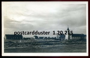 215 - Postmark REDEMPTION Quebec 1940s Panoramic View. Real Photo Postcard