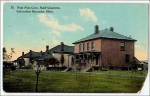 Post Non-Com. Staff Quarters, Columbus Barracks Ohio  (Corner Missing)