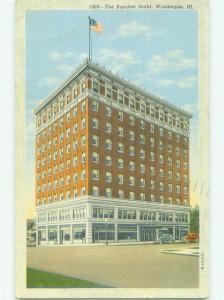 Linen THE KARCHER HOTEL Waukegan Illinois IL HQ3323