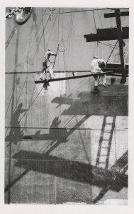 Daredevil London 1940s Workers at Royal Albert Docks Award Postcard