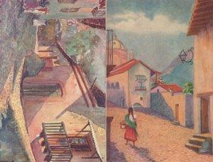 Taxco Ladies Fashion 2x Mexico Old Painting Postcard s
