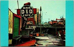 1964 ALASKA EARTHQUAKE Anchorage Postcard 4th Avenue Street Scene Damage Unused