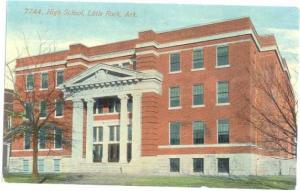 High School, Little Rock, Arkansas, AR, Divided back