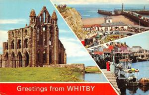 Greetings from Whitby The Abbey Khyber Pass Fishing Boats