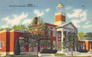 Municipal Building, West Orange, New Jersey, Early Postcard, Used in 1949
