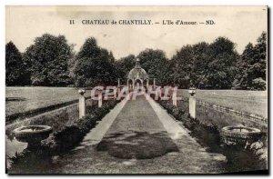 Old Postcard Chantilly Chateau De L & # 39Ie D & # 39Amour