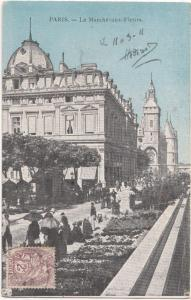 France, PARIS, Le Marche-aux-Fleurs, 1911 used Postcard