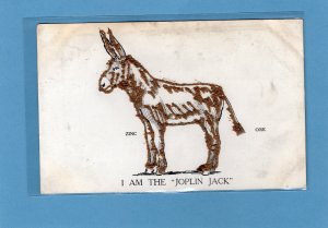 I Am The Joplin Jack RARE Unusual Postcard Zinc Mining Missouri Historical