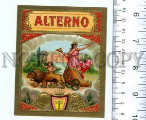500129 ALTERNO Vintage embossed cigar box label