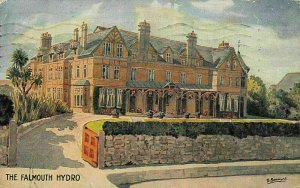 The Falmouth Hydro Painting Artist Signed Postcard