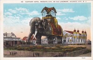 New Jersey Atlantic City The Elephant Hotel Margate City 1924 Curteich