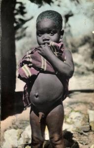 belgian congo, Young Native Boy (1950s) Hoa-Qui 2295