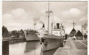 Germany; Merchant Vessels Inc SS Binna In Canal Locks, Brunsbuttel RP PPC Unused