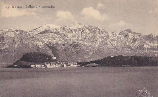 Italy Bellagio Lago di Como Panorama