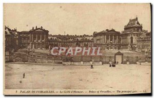 Old Postcard Versailles Palace The grid & # 39honneur